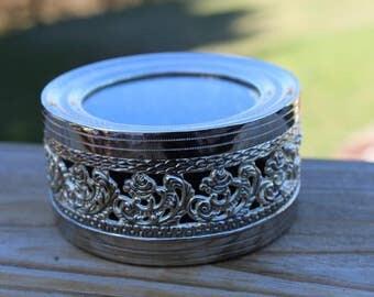 Studio Silversmiths Round Trinket Box, Jewelry Box