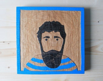 Wood relief sailor