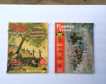 2 Vintage 1966 Frontier Times Magazines