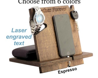 5th Anniversary Gift For Him, Valentines Day Gift From Kids, Son, Gifts For Him, Mens Gift Ideas, iPhone Docking station, Groomsmen Gift