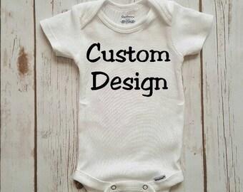 K Taylor Custom Design Onesie