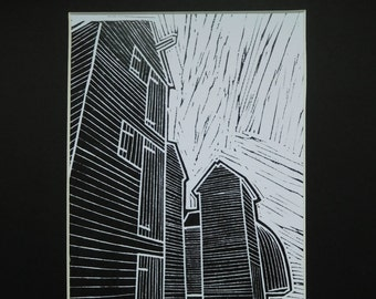 Original Limited edition Lino Print