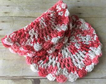 Crochet Dishcloths, Red Crochet Dishcloth, Dishcloth Set, Round Dishcloth, Cotton Washcloth, Crochet Dishcloths, Gift for Her, Hostess Gift