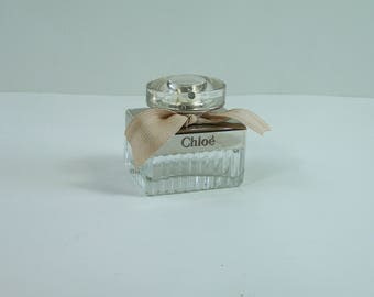 Empty perfume bottle Chloé eau de parfum silver plated and glass French perfume 1 fl oz
