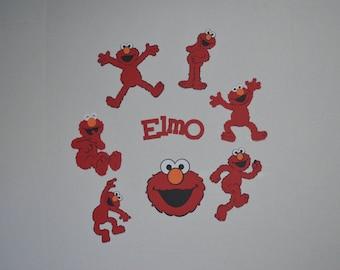 Elmo Die Cuts, Elmo Cut Outs–set of 8