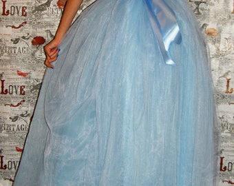 Baby Blue Tulle Tutu Skirt Long Tutu