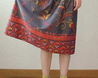 Skirt mod. Sage-cotton-