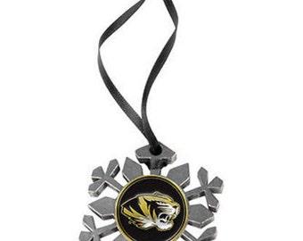Missouri Tigers Snowflake Ornament