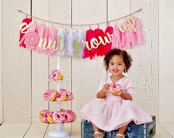 Donut Grow Up Banner - Donut Themed Birthday Party - Donut Party - Donut Party Supplies - Donut Party Decorations - Donut Birthday Party