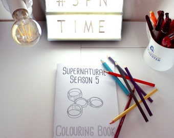 Supernatural Season 5 Colouring Book