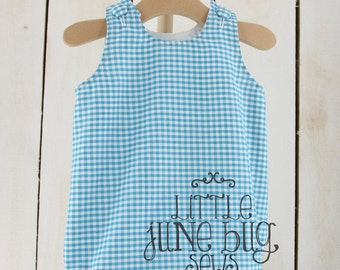 Gingham Baby Bubble Romper, Baby Bubble Romper Blank, Summer/Spring Baby Bubble Romper