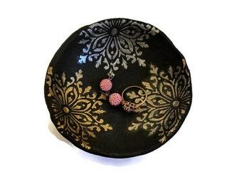 Catchall Metallic Ring Dish, Jewelry Organizer Trinket Dish, Rose Gold Ring Holder, Girlfriend Gift, Jewelry Dish, Gold Desk Accessories