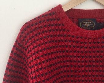90's boyfriend's striped sweater