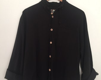 minimalist 90s drawstring light weight jacket