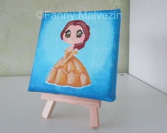Belle (Beauty and the Beast) - Mini painting