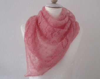 Kid Seta pink triangle scarves