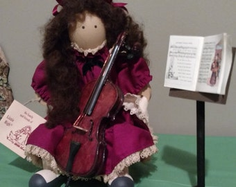 "Vintage & Rare Lizzie High Wooden Doll ""Cellist Stephanie Bowman"""