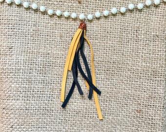 Tassel Choker, Tassel Necklace, Boho Tassel Choker, Boho Tassel Necklace, Pearl Choker, Pearl Necklace, Western Jewelry, Bohemian Necklace