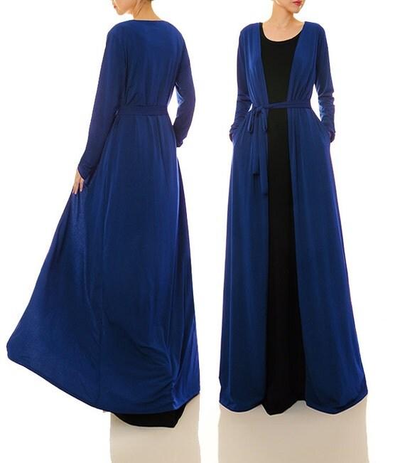 Knit Cardigan Royal Blue Cardigan Long Cardigan Maxi