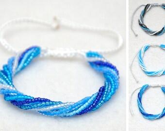 Thread bracelet Beach bracelet Nautical bracelet for girlfriend slide bracelet Summer bracelet Macrame bracelet Braided bracelet for women