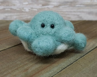 Needle Felt Octopus, Octopus Decor, Mini Octopus, Wool Octopus, Fiber Octopus, Felt Octopus, Octopus, Octopus Art, Tiny Octopus Art