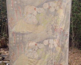 Double Gauze & Linen Whole-Cloth Quilt