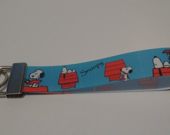 Snoopy Key Fob Keychain Wristlet
