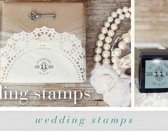 Save the Date Stamp - Custom Wedding Stamp - Personalized Save the Date Stamp - Custom Save the Date Stamp - Wedding DIY - DIY Save the Date