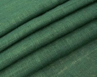"Green Jute Fabric, Home Decor Burlap Fabric, Green Burlap, Natural Fabric, Sewing Fabric,  50"" Inch Wide Jute Fabric By The Yard ZJC1B"