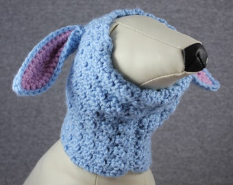 Crocheted Snood - Blue Bunny