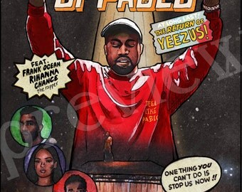 Kanye West Saint Pablo Tour Comic Book Poster Art Print