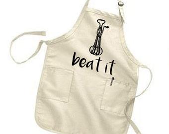 Kiss the Cook Apron. Farmhouse Kitchen Apron. Whip It Apron. Beat It Apron. Baking Gift. Gift for Baker. Gift for Chef. Kitchen Apron