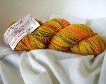 Cascade Yarns Heritage Paints, Hand Painted Sock Yarn, Color 9881 Merino superwash/Nylon, great for socks, or shawls  Free US shipping.