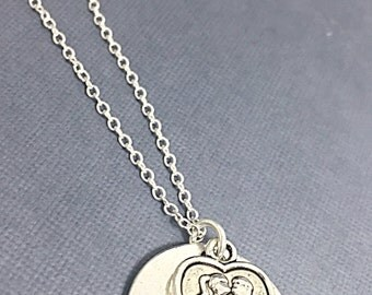 Forever Kiss Necklace, Kissing Necklace, Kiss Charm, Forever Jewelry, Boy girl kissing charm, Forever Yours, Cute Valentine Gift,KissPendant