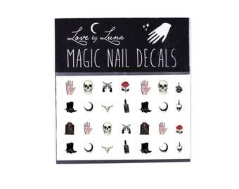 Western Nail Decals / Skull Nail Decals / Rose Nail Decals / Biker Nail Decals / Magic Nail Decals / Outlaw Nails / Gun Nail Decals