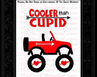 Boy Valentine SVG file- Valentine's Day SVG cut file- Truck SVG Jeep Svg- Valentine Shirts for Boys Svg- Silhouette Valentine- Cricut Vinyl