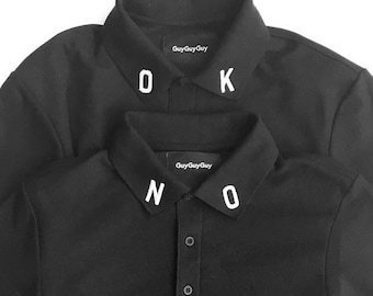 No Black Polo Shirt – Monogram Patch T-Shirt
