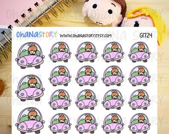 Janine DRIVES Planner Stickers (G1724)