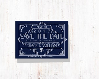 Art Deco Save the Date Template,Save the Date Printable,Gatsby Save the Date Printable,Save the Date Template, Green Save the Date Printable