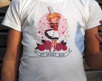 "T-shirt girl ""My lovely bzh"""