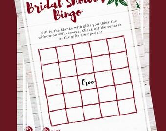 Bridal Shower Bingo- Roses