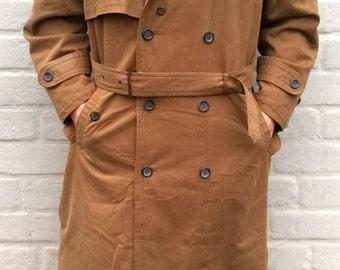 Mens trench coat   Etsy
