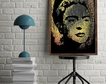 Frida Print Frida Kahlo Art Frida Printable Frida Download Frida Wall Art Frida Wall Decor Frida Digital Print Frida Poster Mexican Art