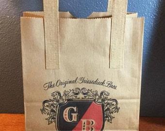 Griesedieck Vintage Brown Bros. papel bolsa - inusitado - luz Cerveza Lager - St. Louis Missouri