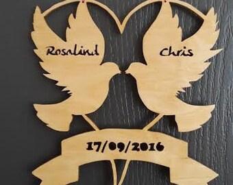 Hanging dove's wedding gift
