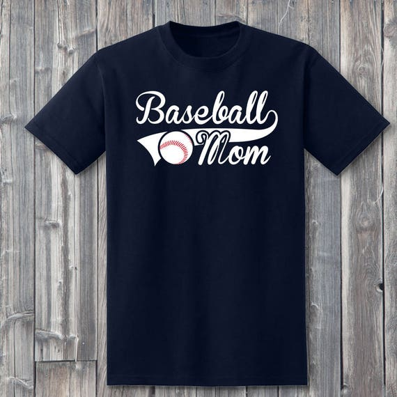 Baseball Mom Shirt 100% Soft Cotton Sports Shirt