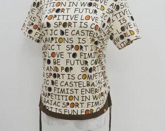 Jean Charles de Castelbajac Shirt Vintage Jean Charles de Castelbajac Sports All Over Print Tee T Shirt Size 2