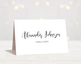 Table Place Cards Downloadable Cards Reception Cards Wedding Name Cards Wedding Table Cards Wedding Place Cards Wedding Seating Cards Sign