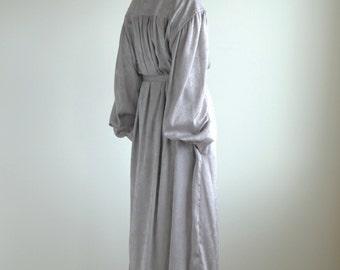 Greige Spangle Jacquard Belted Shirt Dress