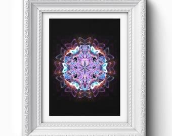 Flower of Life Print, Flower of Life Mandala, Sacred Geometry, Mandala Wall Art, Fractal Print, Printable, Printable Art, Instant Download